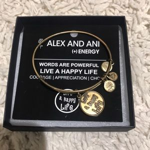 Alex & Ani Live a happy life bracelet